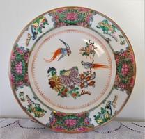 Kézi zománcfestéses, kínai tányér