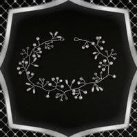 Esküvői, menyasszonyi, alkalmi hajdísz, ES-HD04-35e