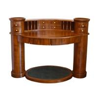 10 fiókos Danhauser jellegű íróasztal, lábtartóval, felújított állapotban.