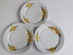 Alföldi nárcisz mintás lapos tányérok - 3 db