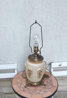 Zsolnay asztali lámpa,àttört majolika kerámia gyönyörű,1800 as évek,