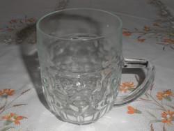 Retro, régi kocsmai üveg sörös korsó ( 0.5 Literes )