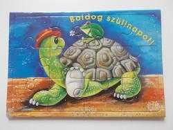 Képeslap puzzle postatiszta