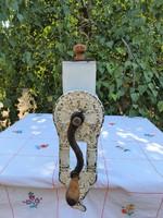 Antik szecessziós BOB konyhai daráló diódaráló ritkaság fehér zománcozott festett régi daráló