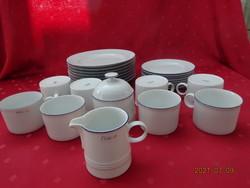 Friesland minőségi német porcelán, nyolcszemélyes reggeliző szett + cukortartó és tejkiöntő.