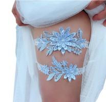 Esküvői, menyasszonyi harisnyakötő szett  ES-HK01-1 KÉK