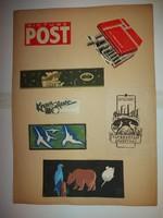 Ex-librisek, A3 méretű papírra ragasztva, nem mind temperafestmény, van litó is, és nyomat is...