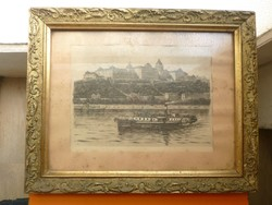 Old graphics of the famous Danube steamer