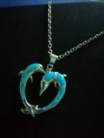 Delfines ezüst lánc