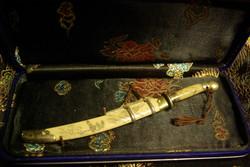 Kínai kovácsolt dísz szablya Niu Wei Dao, Ox Tail Saber 100 - 150 éves