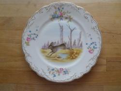 Régi-antik szecessziós porcelán kistányér nyuszis dekorral 20,5 cm