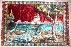 Nagy méretű selyem mokett falvédő / falikárpit