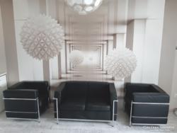 Bauhaus design lounge garnitúra,  Le Corbusier LC2 szalon szett