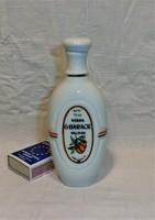 Hollóházi kicsi porcelán pálinkás flaska