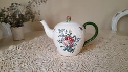Antik Villeroy & Boch Mettlach,virágos teáskanna,kancsó