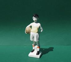 Very rare lomonosov soccer player boy russian soviet porcelain figurine