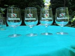 5 db Kronenbourg retro belga sörös pohár