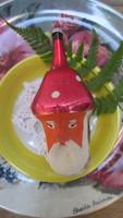 Karácsonyfadísz retró figurális disz, üveg, Gomba apó