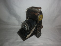 Antik kisméretű harmonikás fényképezőgép