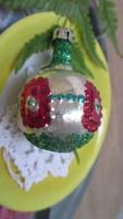 Karácsonyfadísz régi  diszes gömb-plasztikus minta