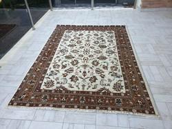 Indo tabriz 174x240 kézi csomózású gyapjú perzsa szőnyeg MM_801 ingyen posta