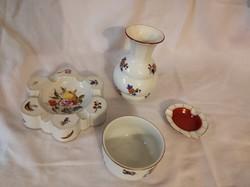 Porcelánok 5db - Herendi, Zsolnay, Meissen