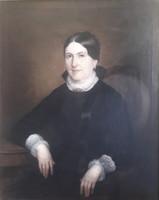Than Mór idős hölgy portréja 103 x 82 cm