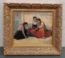 Latinka Elza (Arad, 1895 Arad, 1947)/ Kartyajóslás