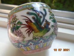 Szikrázó színekkel ,kidomborodó festéssel,teás csésze kakas,lótusz és bazsarózsa mintákkal