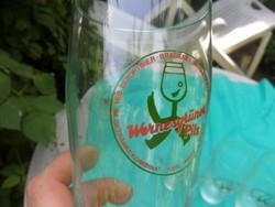 5 db retro NDK -s Wernesgrüner Pils sörös pohár
