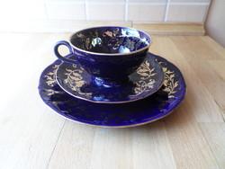 Bareuther Waldsassen Bavaria Echt Cobalt porcelán csésze szett
