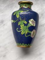 Tündéri Kinai tűzzománc váza