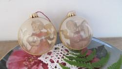 Karácsonyfadísz 2db gömb