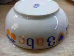 Alföldi porcelán ABC gyermek tálka