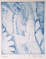 Kőszeghy Csilla - Bérházban II. 22 x 15 cm rézkarc