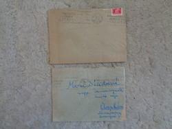 Antik levelek régi bélyegekkel