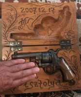 Lefaucheux Pinfire Pisztoly 1900 Antique - dobozzal!!!