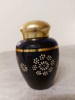 Antik parádi parfümös üveg szelence