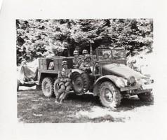 Krupp Protze német teherautó és tüzérségi vontató 7x6 cm