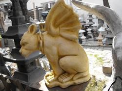Ritka  Troll kutya Őr sárkány ördög kutya kő szobor  Fagyálló Műkő  Mitológiai állat