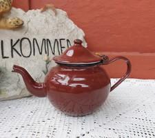 Zománcos, Zománcozott barna  kávéskanna, nosztalgia darab, paraszti dekoráció