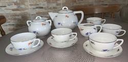 Zsolnay art deco teás készlet, IV osztály.