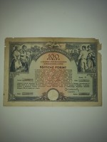 100 Forint.    ----Harmadik Békekölcsön--- 1954.jan.01