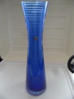 Ingrid Kristall retro kék váza