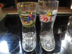 Vicces retro sörös üveg csizmák