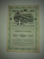 200 KORONA 1908 as kötvény 4% on