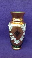 BOHEMIA festett üveg váza 21 cm