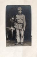 Katona portré fotó, szurony
