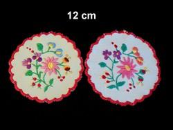 2 db Kalocsai virág mintával kézzel hímzett terítő