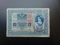 1000 korona 1902 Osztrák Felülbélyegzés